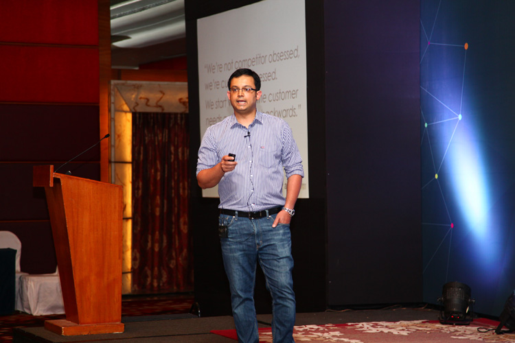 Rajarshi Guin, Senior Manager, Operations, Amazon India, addressing the gathering.